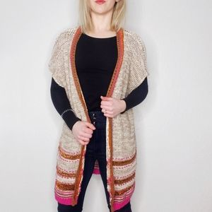 CHICO'S NWT Open Front Metallic Cardigan Sweater